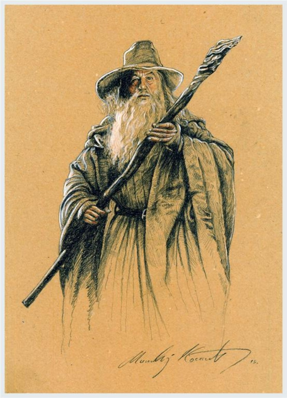 originalslika Gandalf-art-print-72912681